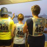 Met de watertaxi onze boten ophalen